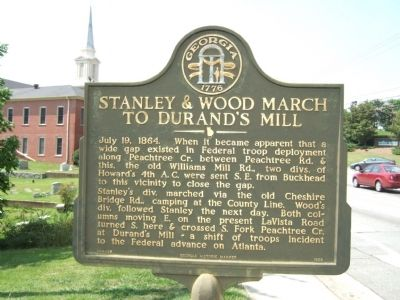 Stanley & Wood March To Durand's Mill Marker image. Click for full size.