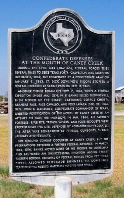 Confederate Defenses at the Mouth of Caney Creek Marker image. Click for full size.