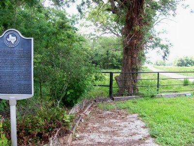 Ellerslie Plantation Marker and View of Farmland Photo, Click for full size