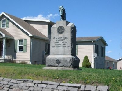 10th New York Cavalry Monument image. Click for full size.