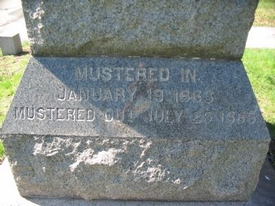 Inscription on Left Footing of Monument image. Click for full size.