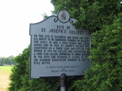 Site of St. Joseph's College Marker image. Click for full size.