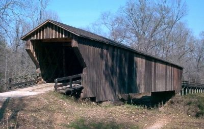 Red Oak Creek Covered Bridge Photo, Click for full size