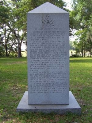 "The Famous Sunbury "" Masonic "" Oak Marker </b>(West Face) image. Click for full size."