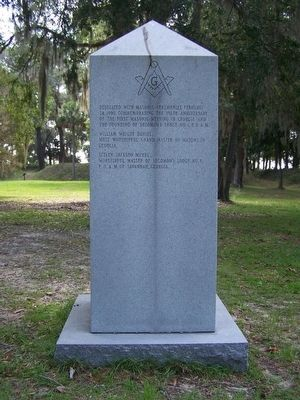 "The Famous Sunbury ""Masonic"" Oak Marker </b>(South Face) image. Click for full size."