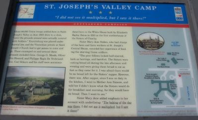 St. Joseph's Valley Camp Marker image. Click for full size.
