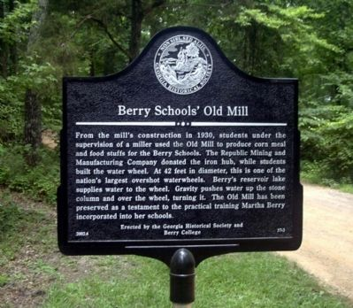 Berry Schools' Old Mill Marker image. Click for full size.