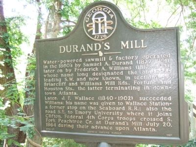 Durand's Mill Marker image. Click for full size.