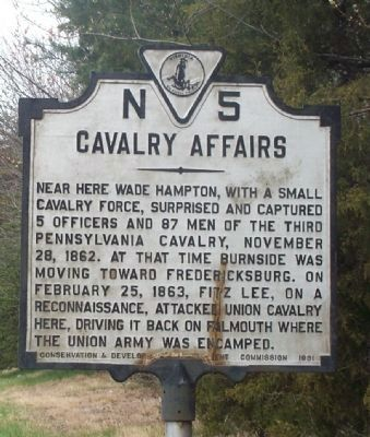 Cavalry Affairs Marker image. Click for full size.