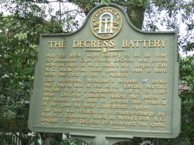 The DeGress Battery Marker Photo, Click for full size