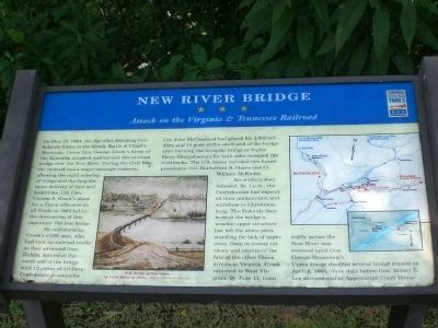New River Bridge Marker image. Click for full size.