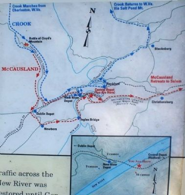 Close-up of Area Map, New River Bridge image. Click for full size.