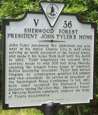 Sherwood Forest Marker image. Click for full size.