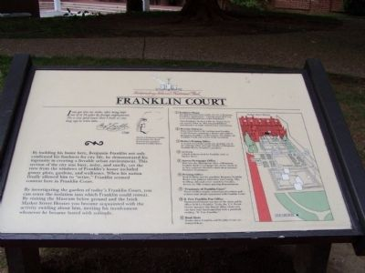 Franklin Court Marker image. Click for full size.