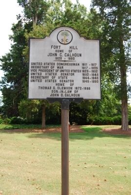 Fort Hill Marker Photo, Click for full size