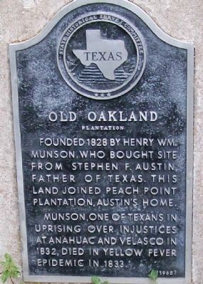 Old Oakland Plantation Marker image. Click for full size.
