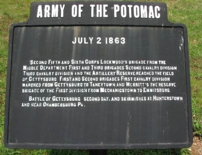 Army of the Potomac Tablet image. Click for full size.