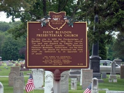 First Blendon Presbyterian Church Marker image. Click for full size.