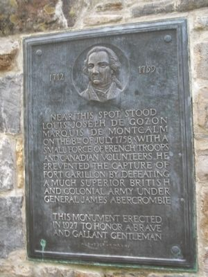 """Near this spot stood Montcalm"" Marker image. Click for full size."