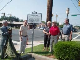 Dedication of the Germantown Marker image. Click for full size.