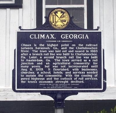 Climax, Georgia Marker Photo, Click for full size