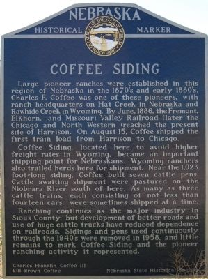 Coffee Siding Marker image. Click for full size.