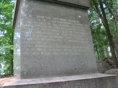 Left Face of Monument image. Click for full size.
