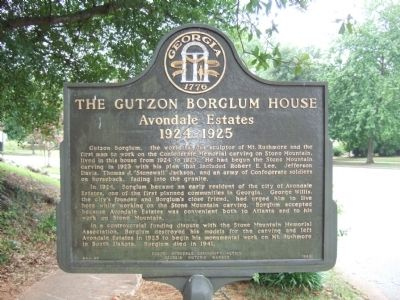 The Gutzon Borglum House Marker image. Click for full size.