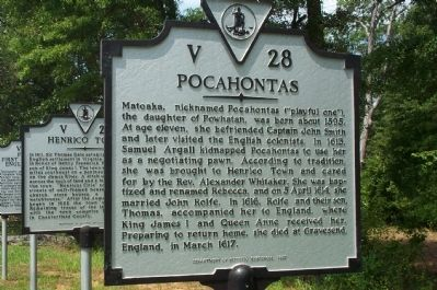 Pocahontas Marker image. Click for full size.