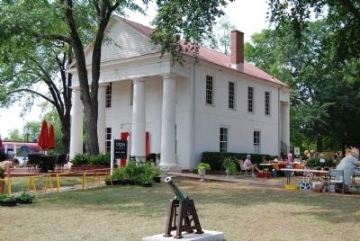 Farmers Hall During a July Farmer's Marker Photo, Click for full size