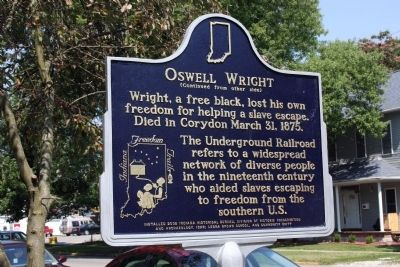 Oswell Wright Marker (Back Side) image. Click for full size.