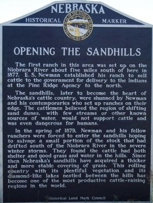 Opening the Sandhills Marker image. Click for full size.