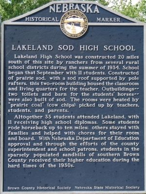 Lakeland Sod High School Marker image. Click for full size.
