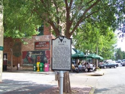 Aiken Marker at The Alley Photo, Click for full size