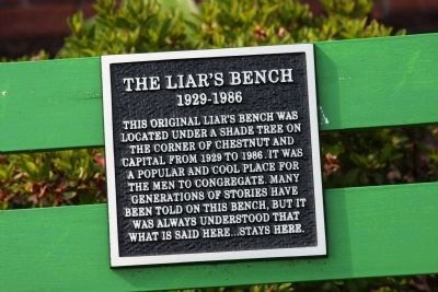 The Liar's Bench Marker image. Click for full size.