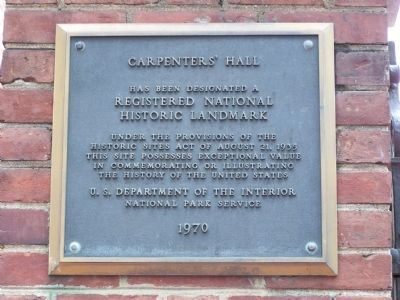 Carpenters' Hall image. Click for full size.