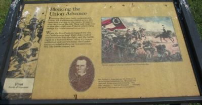 Blocking the Union Advance Marker image. Click for full size.