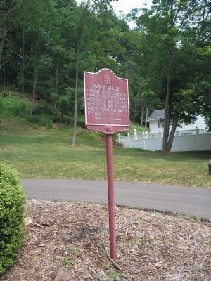 Marker on Mendham Avenue image. Click for full size.