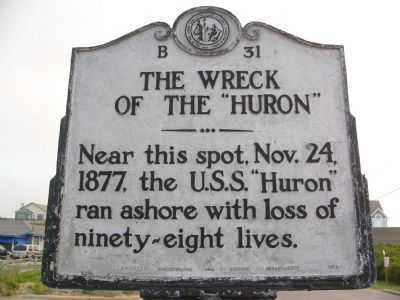 The Wreck of the Huron Marker image. Click for full size.