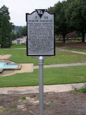 North Augusta Marker image. Click for full size.