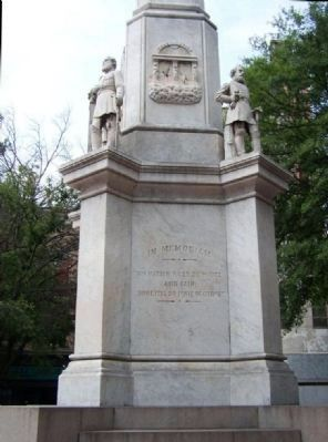 Augusta Confederate Monument Marker north face image. Click for full size.