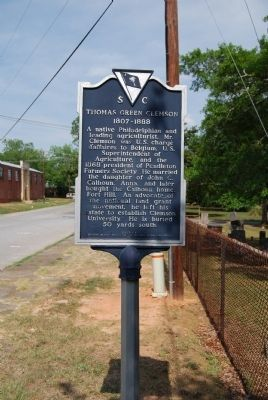 Thomas Green Clemson Marker Photo, Click for full size