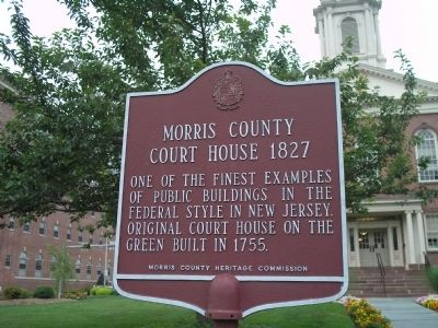 Morris County Court House Marker image. Click for full size.