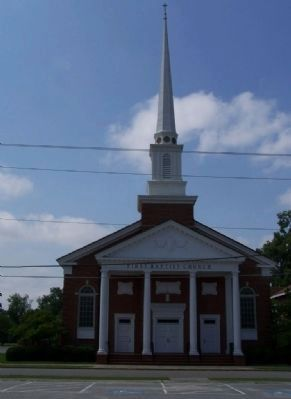 Todays First Baptist Church as mentioned on Marker image. Click for full size.
