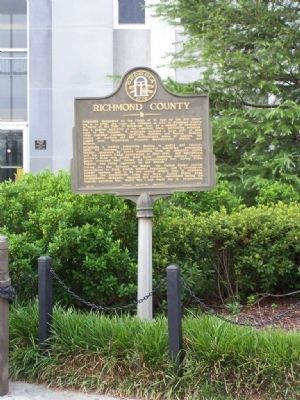 Richmond County Marker image. Click for full size.