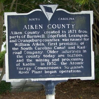 Aiken County Marker Photo, Click for full size