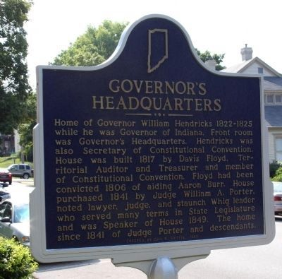 Governor's Headquarters Marker image. Click for full size.
