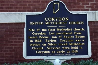 Corydon United Methodist Church Marker image. Click for full size.