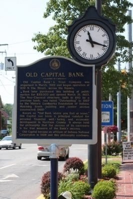 Old Capital Bank Marker image. Click for full size.