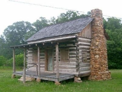 Templeton-Drake Cabin (ca. 1764) -<br>Only Surviving Structure from Boonesborough Township image. Click for more information.